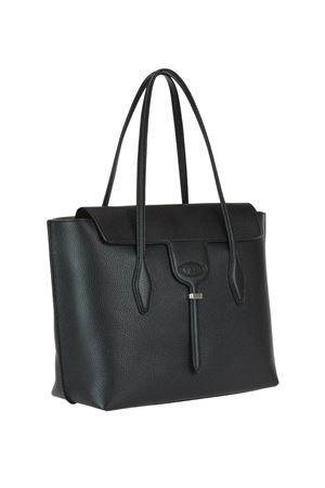 Joy black leather medium tote bag TOD
