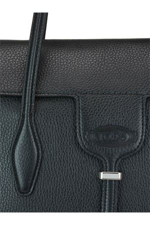 Joy black leather medium tote bag TOD