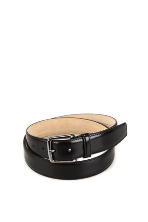 Black smooth leather belt 