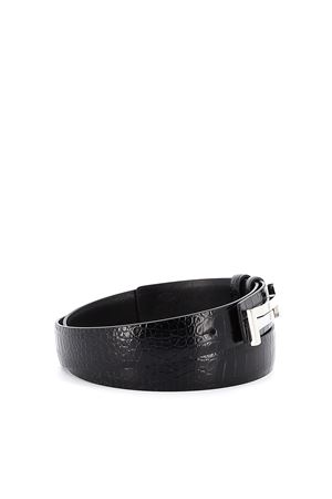 Double T reversible leather belt TOD