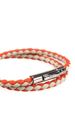 MyColors grey and orange leather bracelet TOD