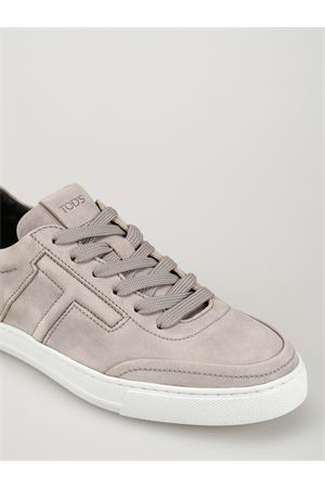 Grey nubuck sneakers with padded T 