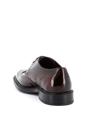 POLISH EFFECT DERBY IN BURGUNDY COLOR TOD