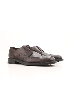 Semiglossy leather Derby brogues TOD