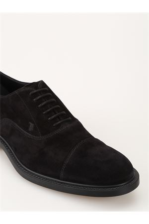 Black suede lace-up Oxford shoes TOD