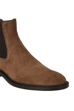 Suede ankle boots with rubber sole