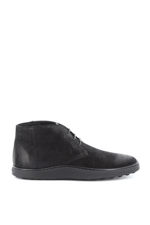 Split leather desert boots