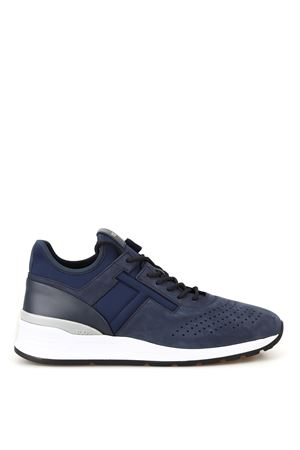 Nubuck and neoprene sneakers
