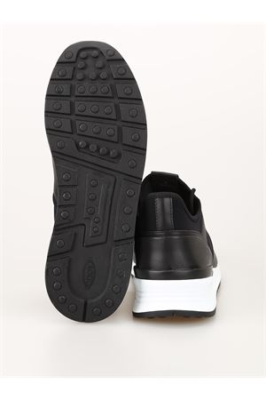 Leather and neoprene sneakers