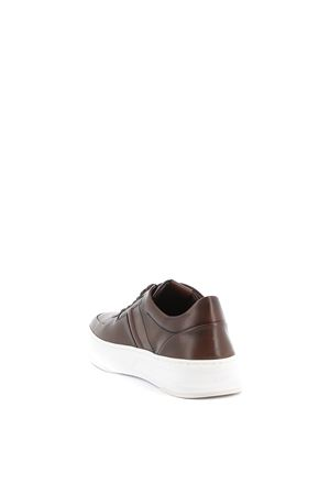 Dark brown leather sneakers TOD