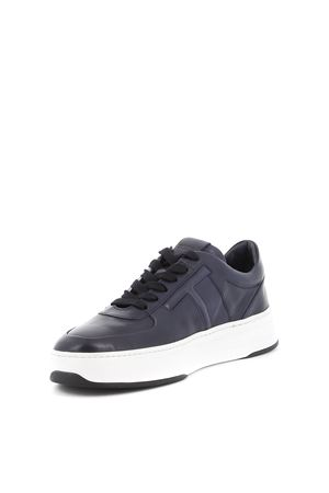 Dark blue leather sneakers TOD