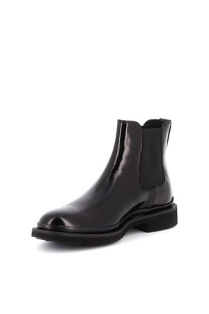 Black patent leather Beatles boots