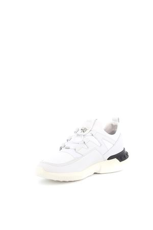 No_Code_03 white leather and scuba sneakers