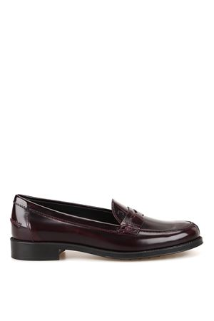 Brushed shaded leather loafers TOD