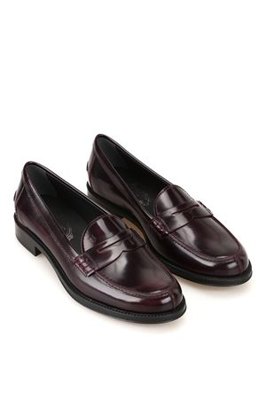Brushed shaded leather loafers