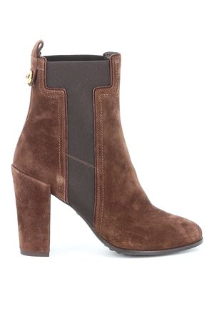 Elastic T suede ankle boots