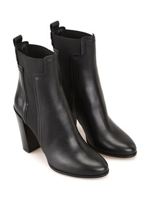 Elastic T leather ankle boots