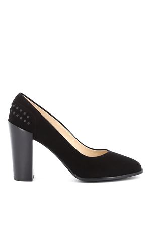 Pebble detail suede pumps