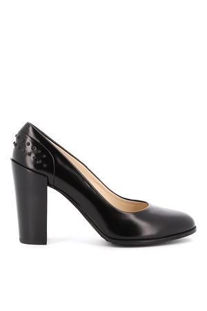 Gommino detailed black leather pumps
