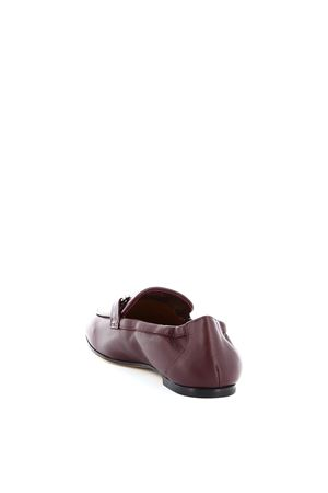 Metal Double T detailed leather loafers