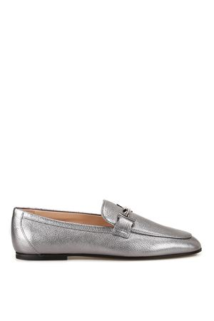 Double T laminated leather loafers