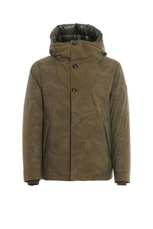 Military Anorak camu print padded coat