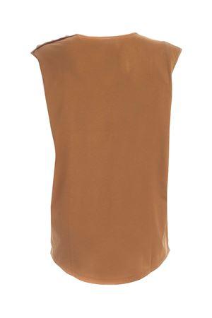 BUTTONS SLEEVELESS T-SHIRT IN CAMEL COLOR BALMAIN | 8 | UF01000I5918KJ