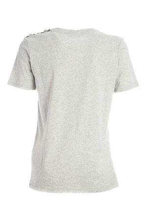 FLOCK LOGO T-SHIRT IN GREY BALMAIN | 8 | UF01350I592YCL