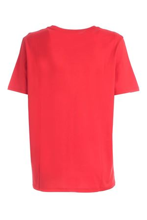 RED T-SHIRT WITH WHITE FLOCK LOGO BALMAIN | 8 | UF01350I617MAI
