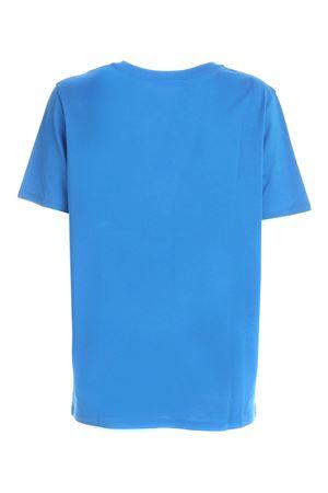 T-SHIRT BLU CON LOGO FLOCK BIANCO UF01350I617SCG BALMAIN | 8 | UF01350I617SCG