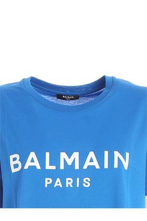 WHITE LOCK LOGO T-SHIRT IN BLUE BALMAIN | 8 | UF01350I617SCG