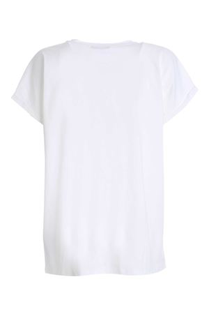FLOCK LOGO T-SHIRT IN WHITE BALMAIN | 8 | UF01351I589GCM