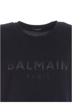 LOGO PATCH T-SHIRT IN BLACK BALMAIN | 8 | UF01351I5900PA