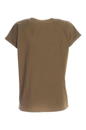 LOGO PATCH T-SHIRT IN GREEN BALMAIN | 8 | UF01351I5907KH