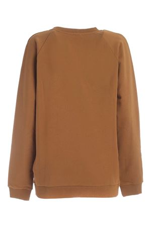 LOGO PATCH SWEATSHIRT IN CAMEL COLOR BALMAIN | -108764232 | UF03691I4978KJ