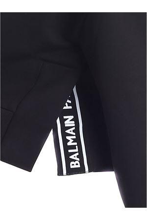 CROP HOODIE IN BLACK BALMAIN | -108764232 | UF03792I598EAB