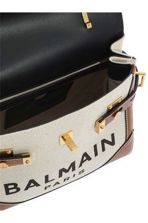 SHOULDER BAG BEIGE AND BROWN BALMAIN | 70000001 | UN0S530TCNEGEM