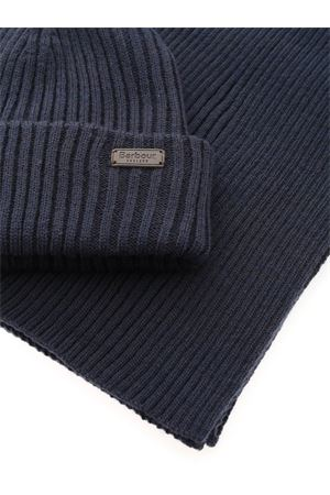 CRIMDON BEANIE AND SCARF SET IN BLUE BARBOUR | 77 | MGS0019NY31