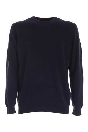 PATCH ON THE SLEEVES PULLOVER IN BLUE