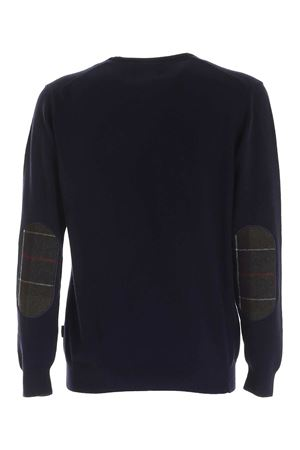 PULLOVER BLU CON PATCH SULLE MANICHE MKN0867NY94 BARBOUR | -1384759495 | MKN0867NY94