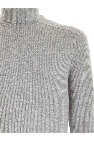 ROLL TURTLENECK IN MELANGE GREY