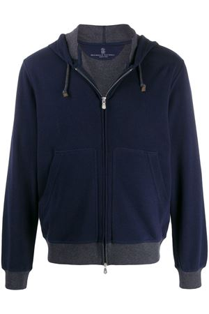 BLUE COTTON SWEATSHIRT BRUNELLO CUCINELLI | -108764232 | M0T319069GC039