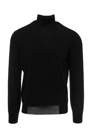 BLACK CASHMERE BLEND TURTLENECK BRUNELLO CUCINELLI | 10000016 | M2400103CH101