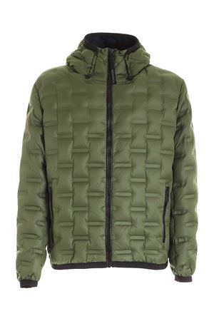 HOODED DOWN JACKET IN GREEN