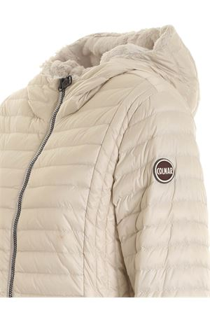 HOODED DOWN JACKET IN IVORY COLOR COLMAR | 783955909 | 2219E7QD407