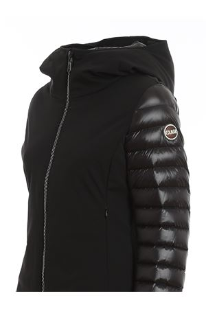 QUILTED SLEEVES PUFFER JACKET IN BLACK