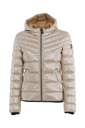 QUILTED AND PUFFER JACKET IN BEIGE
