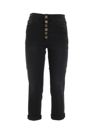 KOONS BLACK JEANS FEATURING JEWEL BUTTONS DONDUP | 24 | DP268BDS0255DAS1DD999