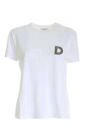 LOGO RHINESTONES T-SHIRT IN WHITE DONDUP | 8 | S746JF0234DZK1DD000