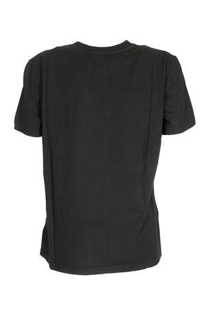 LOGO RHINESTONES T-SHIRT IN BLACK DONDUP | 8 | S746JF0234DZK1DD999